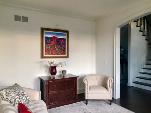 """Paintings by Olesya Hudyma seen at Private Residence, Detroit - """"Still In Love"""" painting"""