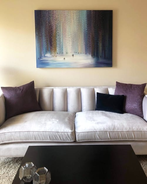 Paintings by Ekaterina Ermilkina seen at Private Residence, Los Angeles - Silver Rain oil painting