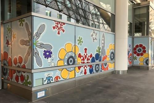 Murals by Johnny Botts at Sales Force Transit Center, San Francisco - Dynamism