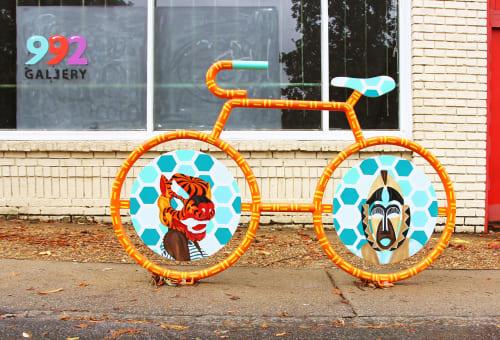 Murals by Alea Hurst seen at Gallery 992, Atlanta - Unity in Diversity Bike Rack Mural