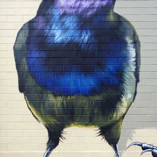 Street Murals by Anat Ronen seen at FacilityRx, San Antonio - The grackles