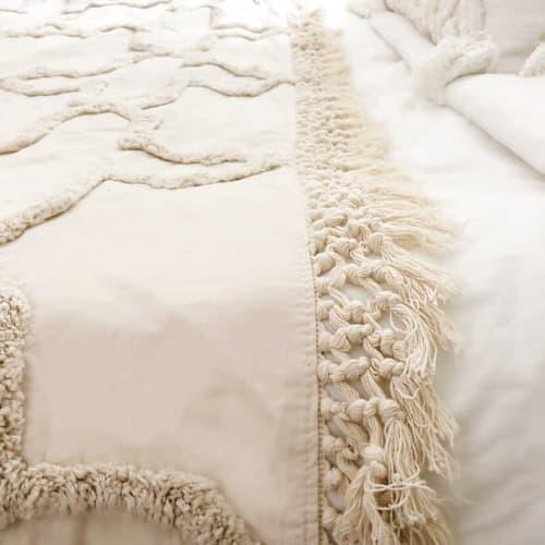Linens & Bedding by Coastal Boho Studio seen at Destin, Destin - Sandy Handwoven Bedspread Set - Natural