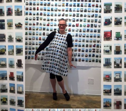 Art Curation by Anne M Bray seen at TAG Gallery, Los Angeles - 313 Trucks Wall Tapestry (2017)
