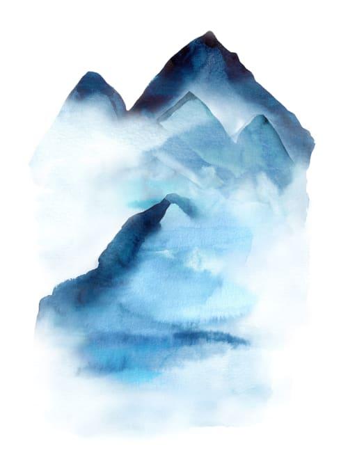 Paintings by Hope Bainbridge Art seen at Beautiful Feet Books, San Luis Obispo - Blue Abyss I