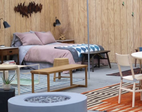 Benches & Ottomans by The Long Con seen at Bay Area Made x Wescover 2019 Design Showcase, Alameda - Gathering Bench - Natural