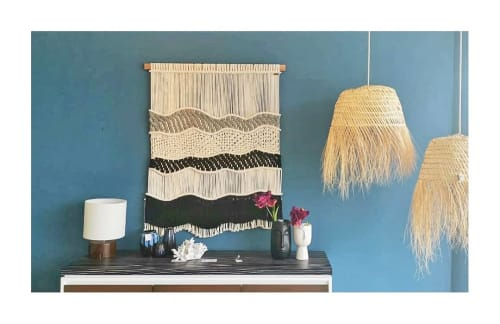 """Macrame Wall Hanging by Mikrama seen at Private Residence, Puerto Vallarta - Macrame tapestry """"OLAS"""""""