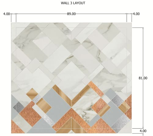 Tiles by Audrey Lane seen at 2800 N Terminal Rd, Houston - 100% Custom