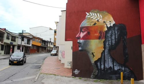 Murals by SEPC seen at Manizales, Manizales - innata