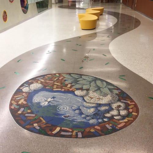 Public Mosaics by Gary Drostle – Drostle Public Arts Ltd seen at Palo Alto, Palo Alto - A Trail Through The Redwood Forest mosaic