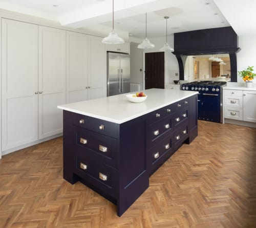 Furniture by James Mayor Furniture seen at Private Residence, Birmingham - Traditional Kitchen Island