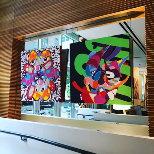 Paintings by Eric Inkala seen at CORE: Club, New York - Abstract Paintings
