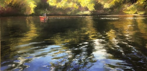 Paintings by Jeanne Rosier Smith Fine Art seen at Copley Society of Art, Boston - On the River