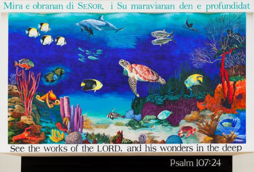 Murals by Mural Art Designs seen at Trans World Radio Bonaire (TWR), Kralendijk - The Oceanic Life of Bonaire