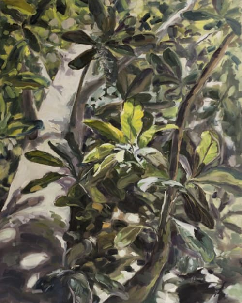 Paintings by Kristin Cronic Fine Art seen at Private Residence, Jacksonville - Unbridled (Magnolia Tree Painting)