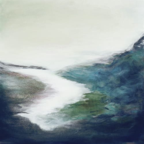 Paintings by Lesley Frenz at ScanSource Inc., Greenville - Tenderness and Time