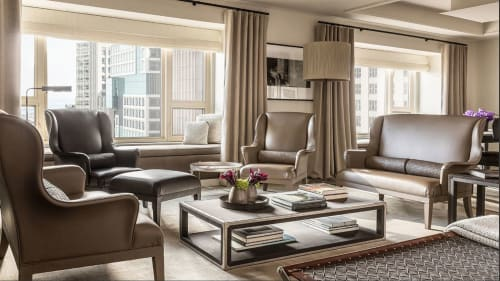 Interior Design by David Grout, Gary Lee Partners seen at Private Residence, Chicago - Park Hyatt Custom Bottega Veneta Suite