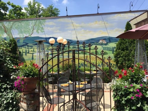 Murals by Michelle Noe seen at Private Residence, Louisville - Porcini Mural