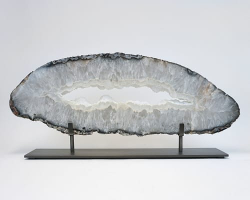 Sculptures by Ron Dier Design seen at Private Residence, Laguna Beach - Mounted Agate