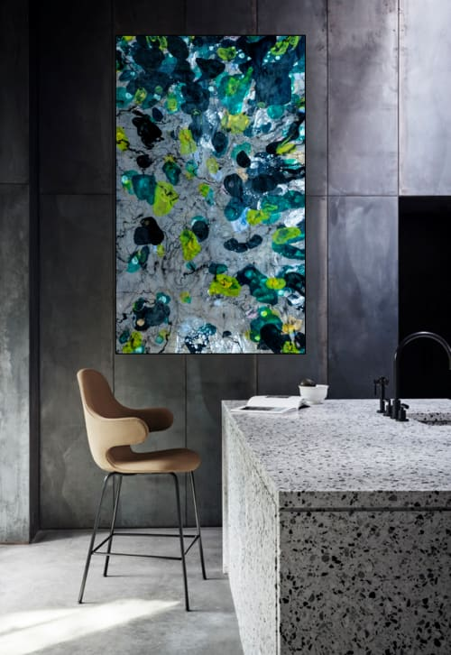 Paintings by Christina Twomey Art + Design seen at Private Residence, Bentonville - LAGOON