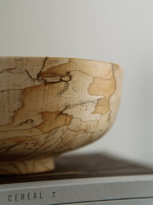 Tableware by Whirl & Whittle seen at Private Residence, Bowral - Ira Wooden bowl
