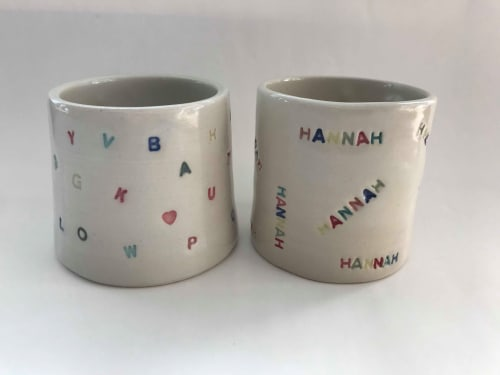 Cups by Ceramics by Hannah seen at Perth, Perth - Personalised Cups and Mugs (lots of colours, browse pics to view)