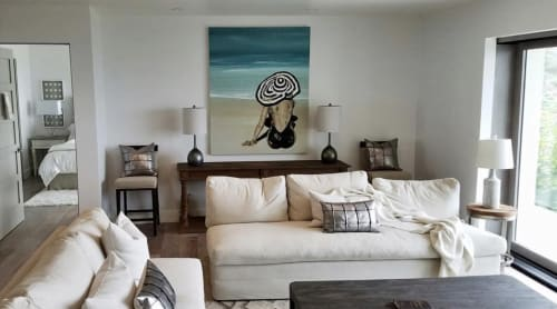 Paintings by Kelsey Irvin at Private Residence, Laguna Beach - Reset