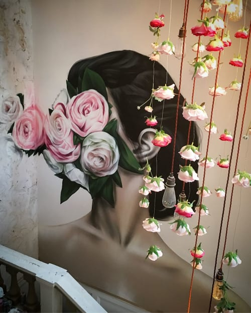 Murals by Jody Thomas seen at The Florist Liverpool, Liverpool - Indoor Mural