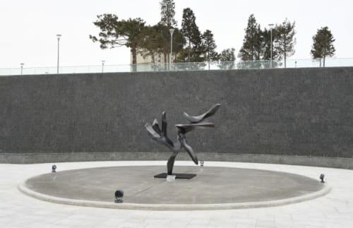 Public Sculptures by Hedva Ser seen at Baku, Baku - Tree of Peace
