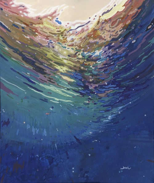 Paintings by Margaret Juul seen at London, London - Gabriel Fine Arts, London. 'Underwater Worlds' Group Exhibition. 5 International Artists.