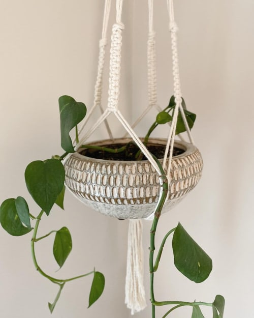 Macrame Wall Hanging by Hitch + Tie seen at Private Residence, Pemberton - Macrame Plant Hanger