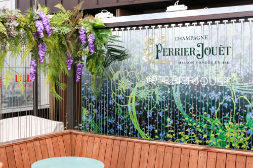 Floral Arrangements by Gather and Assemble seen at Ryse Hotel, Yanghwa-ro - Urban jungle arrangement for Perrier-Jouet