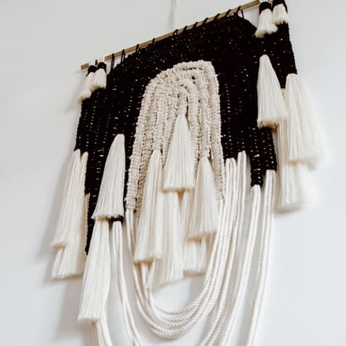Macrame Wall Hanging by Ranran Design by Belen Senra seen at Private Residence, Bondi Beach - Black Velvet Fiber Wall Hanging