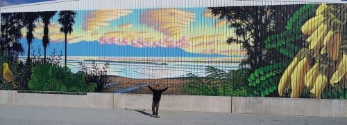 Street Murals by Christopher Finlayson seen at Takaka, Takaka - Good Morning Golden Bay