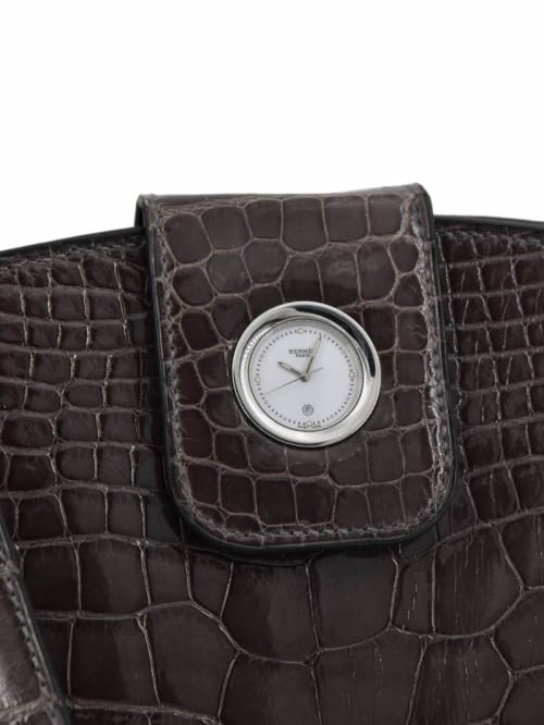 Apparel & Accessories by COUTUREDossier seen at Greenwich, Greenwich - Hermes Shiny Alligator Lyn Grey