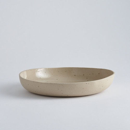"""Ceramic Plates by The Super Sparrow seen at Private Residence, London - """"Serving Bowl"""""""