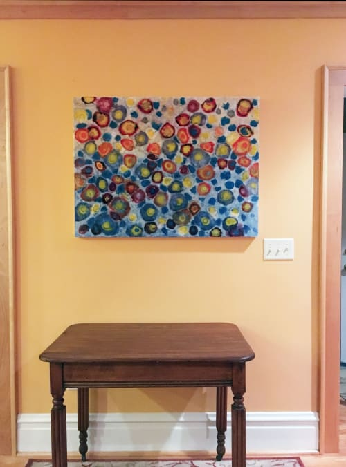 Paintings by Farida Hughes seen at Private Residence, Saint Paul - Variations, Blue