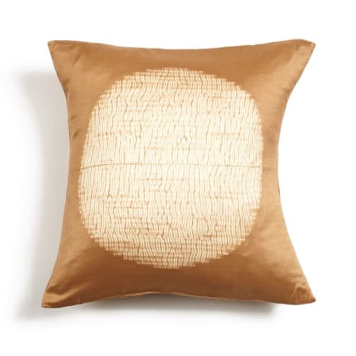 Pillows by Studio Variously seen at Private Residence, Bloomfield Hills - Shunya Gold Silk Pillow