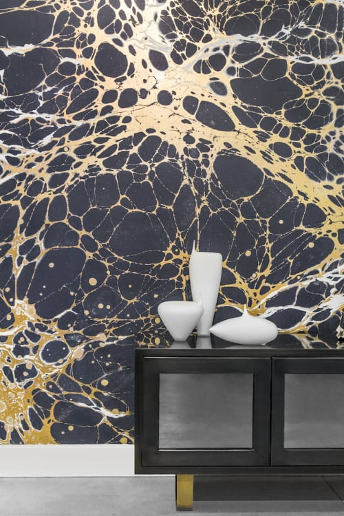 Wallpaper by Calico Wallpaper seen at Private Residence, Brooklyn, NY, Brooklyn - Night Collection