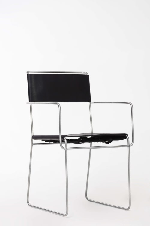 Chairs by 1Nayef Francis seen at Private Residence - Beirut, Lebanon, Beirut - Wire chair