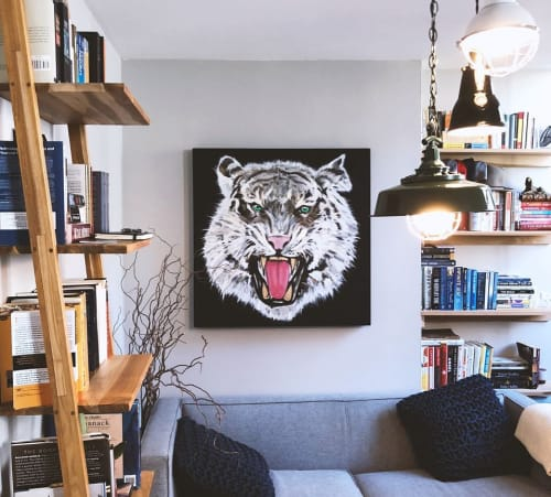 Paintings by Jojo Anavim seen at Private Residence, New York - Tiger