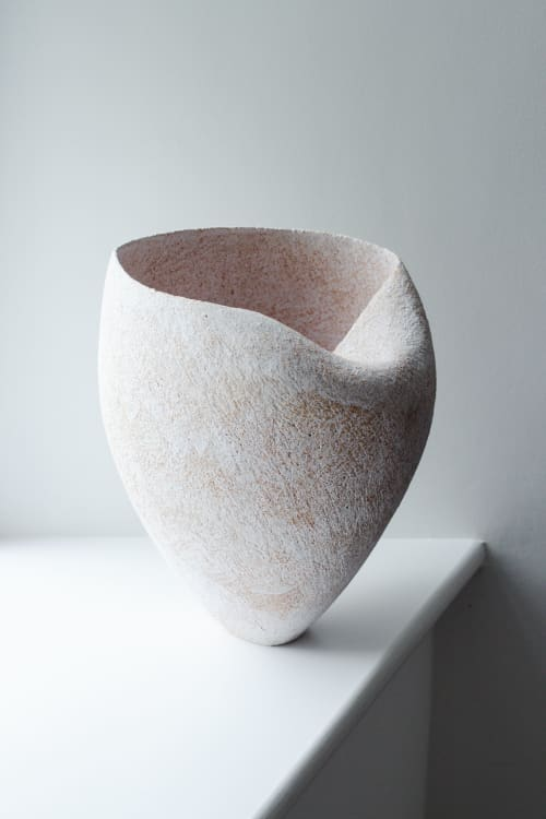 Sculptures by Yasha Butler seen at Private Residence, Nantucket - Custom Pergamon Vessel - Lithic Collection