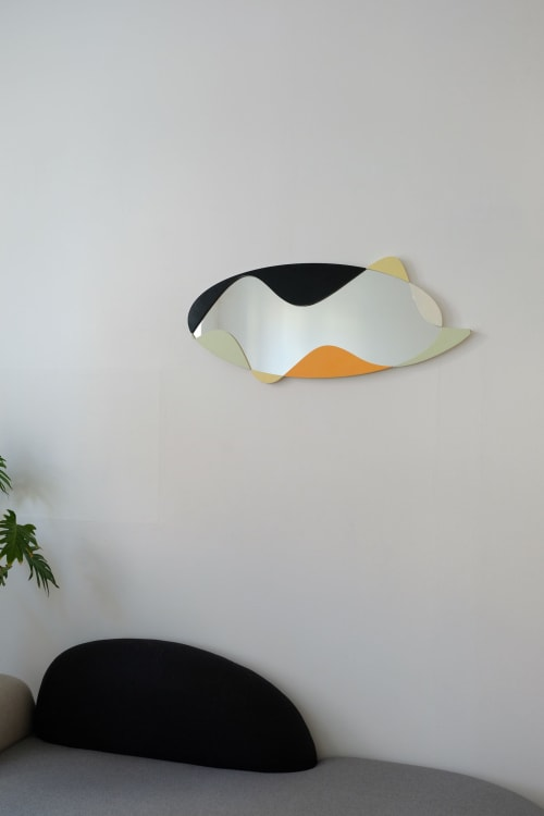 Murals by Werajane Design seen at Private Residence, Leipzig - The Wave Mirror