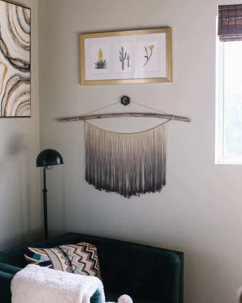 Wall Hangings by suspend.it seen at Private Residence, Carlsbad - white / black hexagon suspend.it
