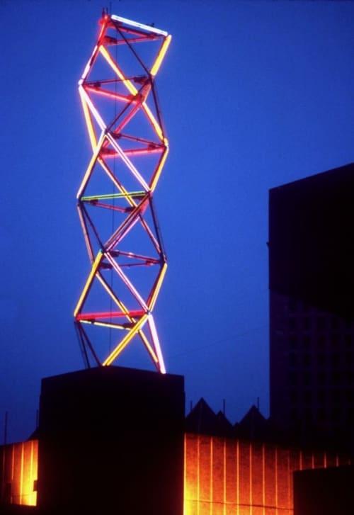 Neon Tower | Public Sculptures by Philip Vaughan