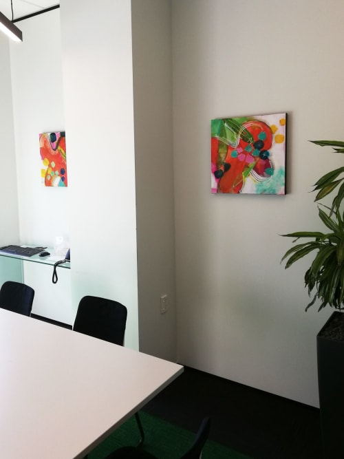 Paintings by Kirsty Black seen at RSM New Zealand (Auckland), Auckland - Spring Cartwheel & Blossom Tumble