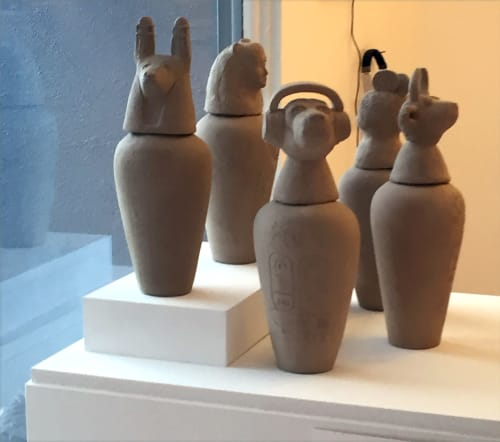 Sculptures by Kathy Aoki, artist seen at California - Canopic Jar (Gwen Stefani)