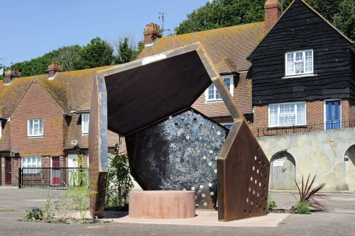 Public Sculptures by Sarah Staton seen at Folkestone Harbour, Folkestone - Steve