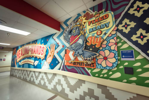 Art & Wall Decor by Bradford Maxfield (Estudio Bradlio) seen at Providence Children's Hospital, El Paso - All Fixed And Ready To Fly!