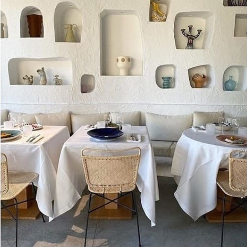 Vases & Vessels by stephanie phillips ceramics seen at RESTAURANT OURSIN, Paris - Oursin Paris
