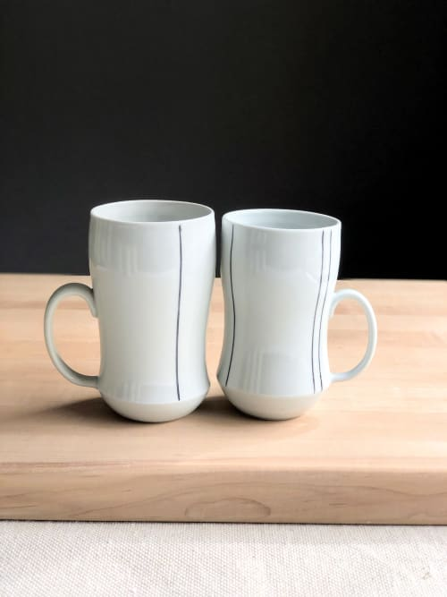 Cups by Stephanie McGeorge seen at Creator's Studio - Striped Coffee Mug